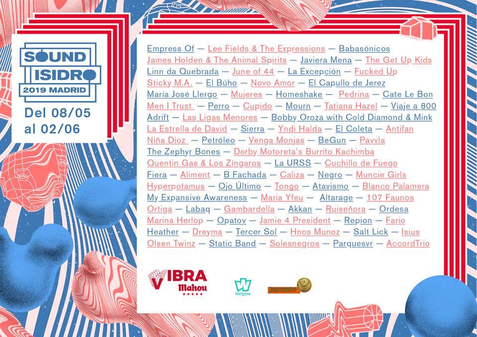 Sound Isidro ha presentado cartel para 2019