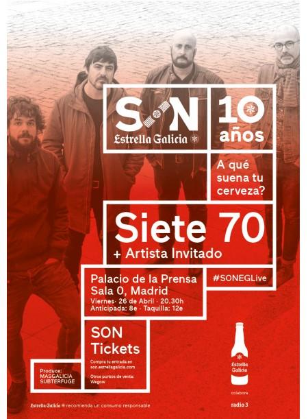 """Siete70 presentan """"La Estupidez"""" el 26 de abril en Madrid"""