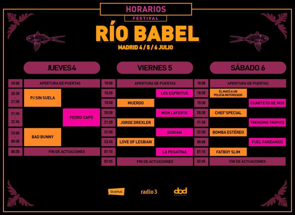 Festival Río Babel presenta los horarios de su próxima edición