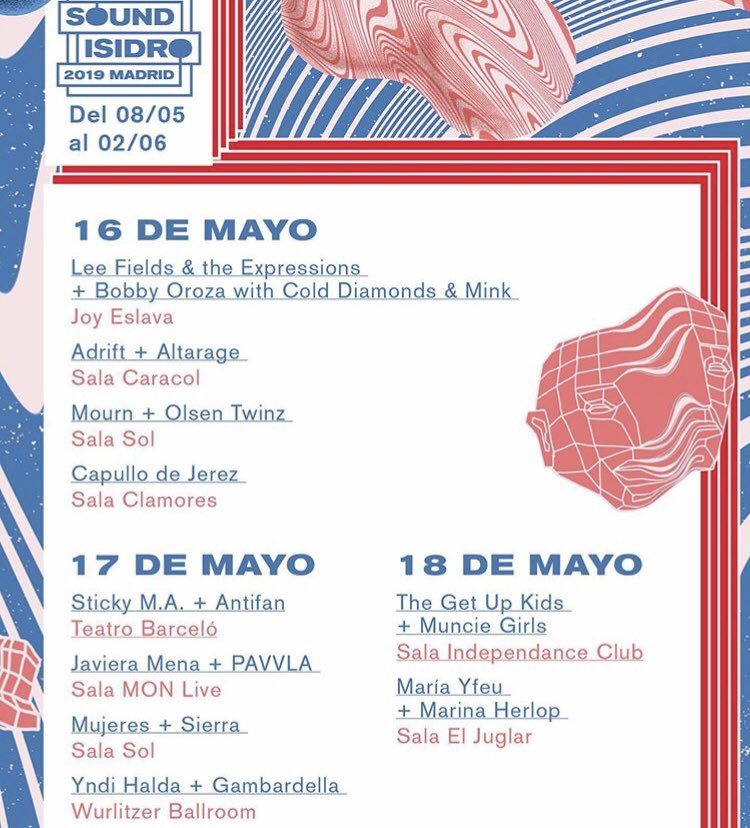 Los conciertos de esta semana en Sound Isidro