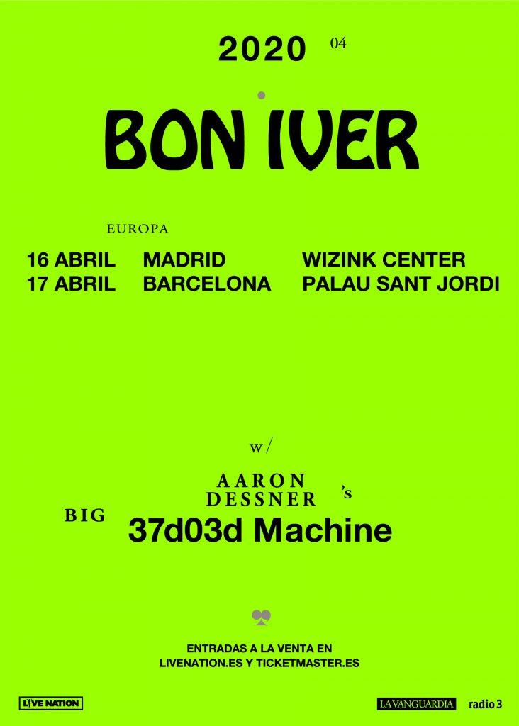 Bon Iver visitará Madrid y Barcelona en abril de 2020