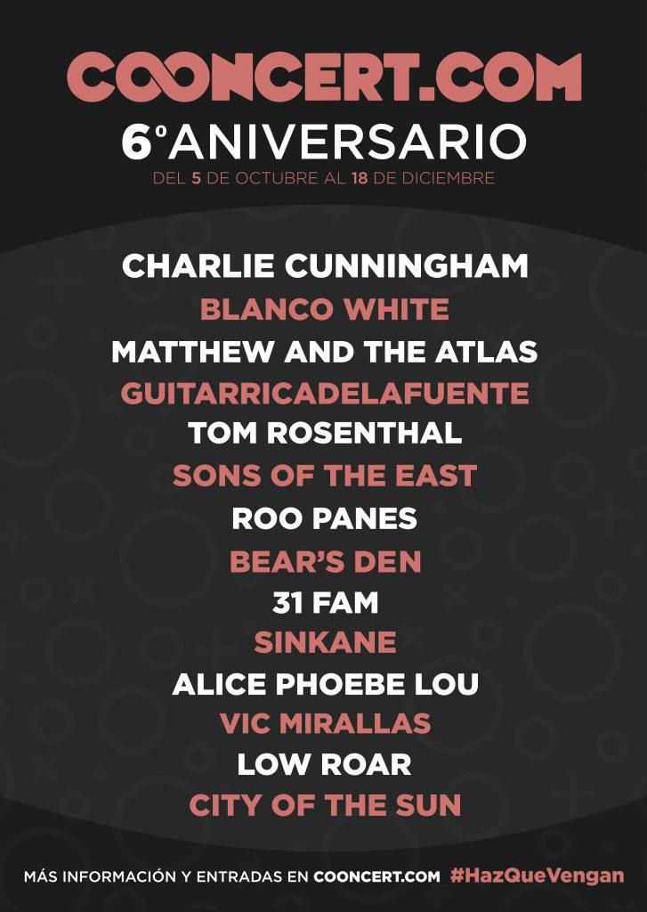 Cooncert celebra su 6º aniversario con más de veinte conciertos