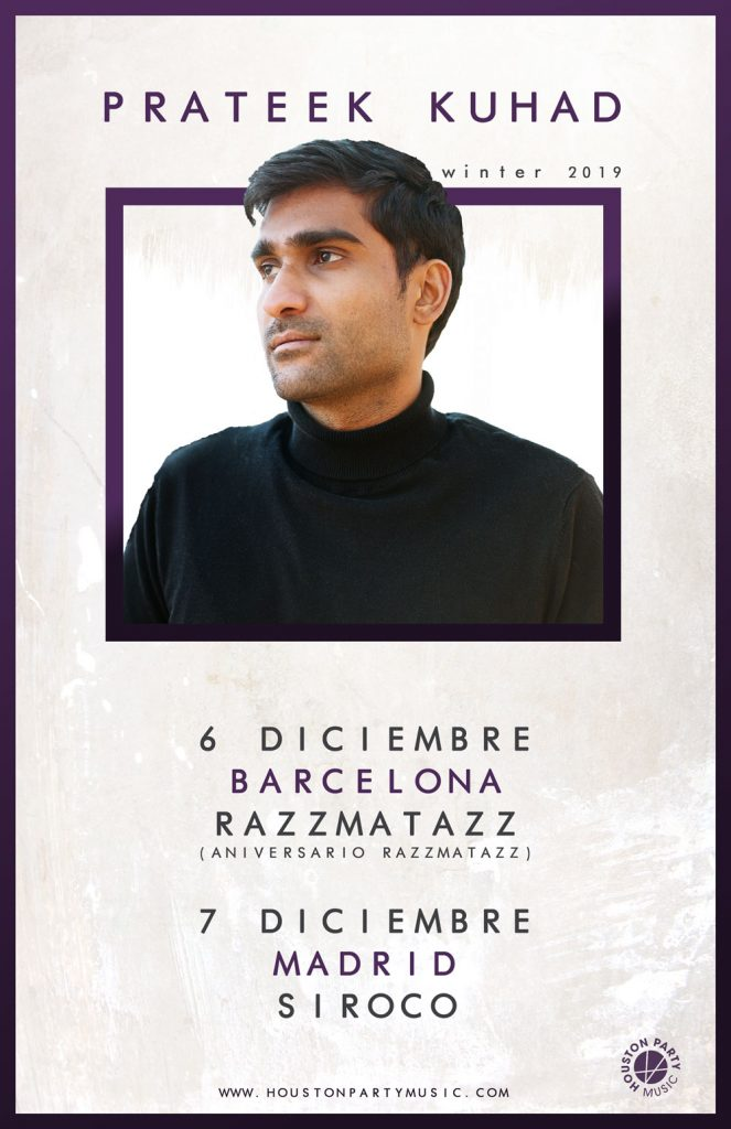 Prateek Kuhad, en Barcelona y Madrid a principios de diciembre