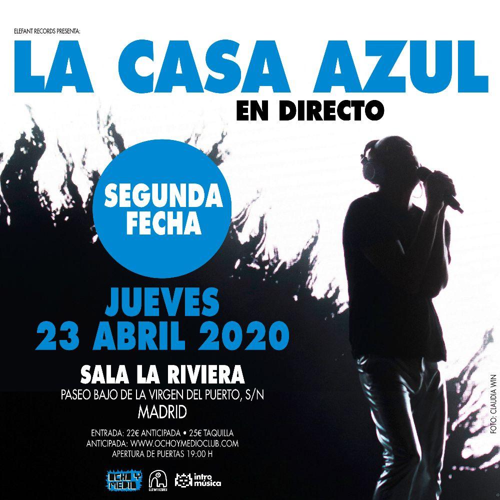 La Casa Azul abre nueva fecha para La Riviera.