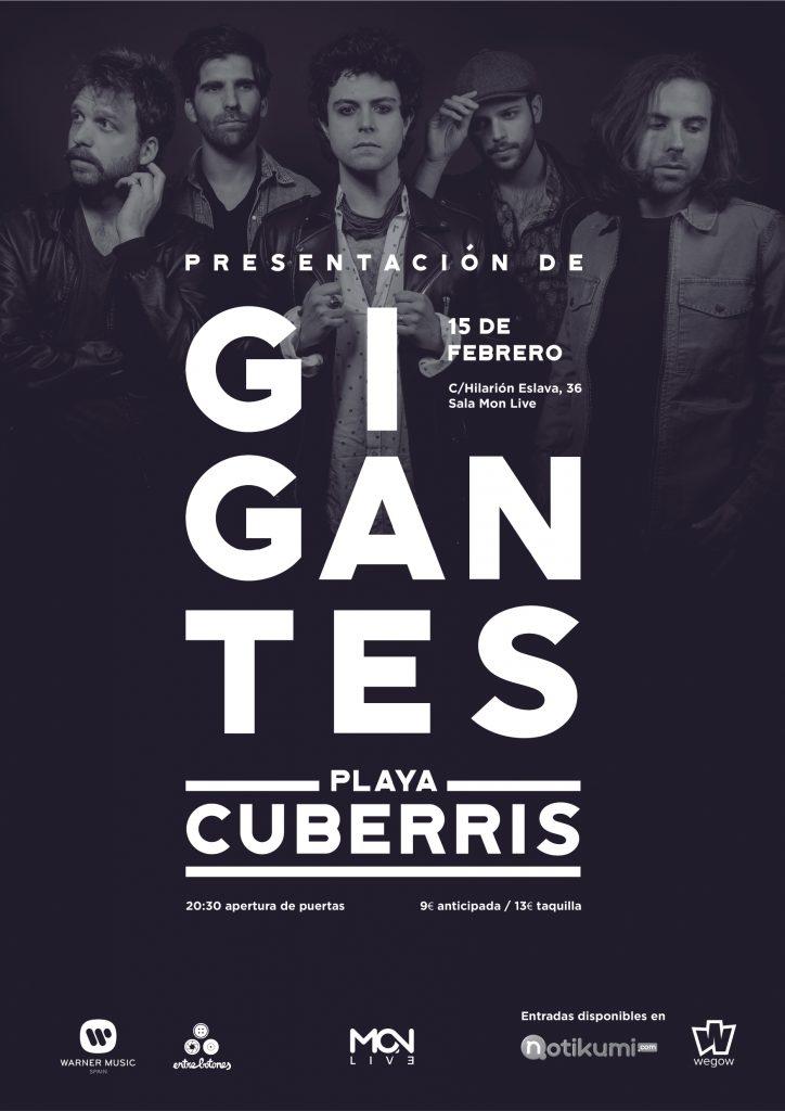 Playa Cuberris presenta disco el 15 de febrero en Madrid