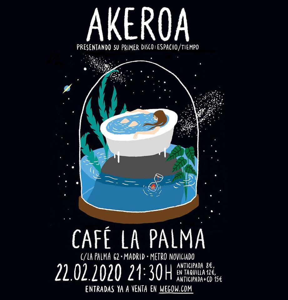 """Akeroa presenta su """"Espacio/Tiempo"""" en el Café La Palma"""