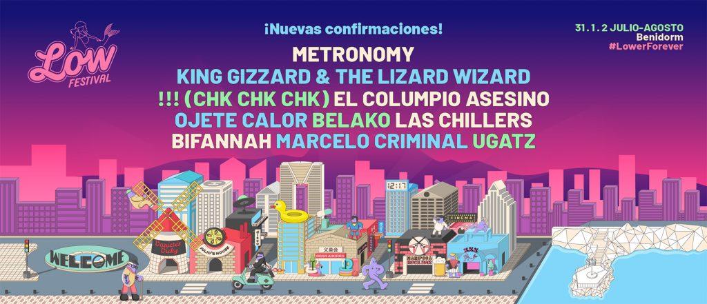 Diez nuevos nombres se suman al Low Festival 2020