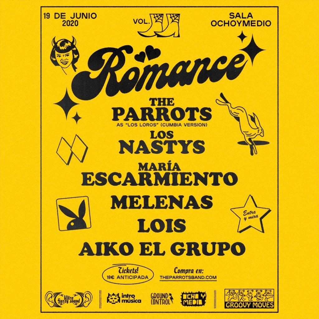 La fiesta Romance de The Parrots se pospone al 19 de junio