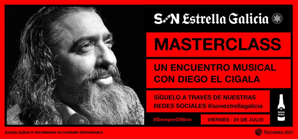 Diego 'El Cigala', protagonista de la primera Masterclass SON Estrella Galicia