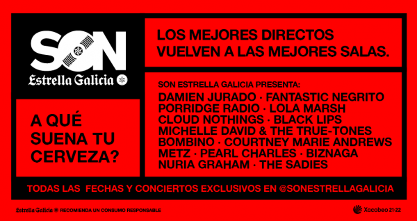 SON Estrella Galicia presenta nueva temporada de conciertos