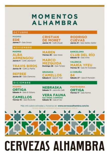 El jueves, 7 de octubre, arranca el ciclo Momentos Alhambra